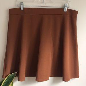 Forever 21 Plus Brown Skater skirt